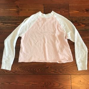 Pink and white baseball shirt